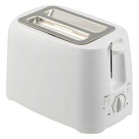 ポップアップトースター W COK-YH75A-Wトースター 焼き色調節 縦型 食パン おしゃれ オーム電機 【D】