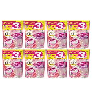 【8個セット】ボールドジェルボール3D 癒しのプレミアムブロッサムの香り つめかえ用 超ジャンボ 46個 送料無料 まとめ買い ボールド レノア HAPPINESS 癒しのプレミアムブロッサムの香り 通常