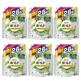 【6個セット】ボールドジェル グリーンガーデン&ミュゲの香り つめかえ用 超ジャンボサイズ 1,530g まとめ買い ボールド レノア HAPPINESS すすぎ1回 グリーンガーデン&ミュゲの香り 通常の約2.6倍 柔軟剤入り 超ジャンボ つめかえ P&G 【D】