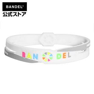ブレスレット cross bracelet ホワイト×マルチ(WhitexMulti クロスシリーズ) BANDEL バンデル メンズ レディース ペア スポーツ シリコンゴム