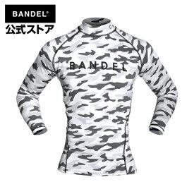 アンダーウェア 長袖 ロング カモホワイト(camo-white 迷彩 ロンT) BANDEL high-neck long t-shirt black バンデル メンズ レディース スポーツ