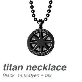 ネックレス titan necklace ブラック(Black チタン) BANDEL バンデル  メンズ レディース ペア スポーツ シリコンゴム プレゼント