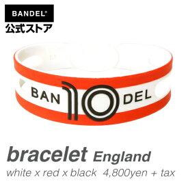 ブレスレット bracelet ワールドフットボール イングランド(England whitexredxblack ホワイト×レッド×ブラック) BANDEL バンデル  メンズ レディース ペア スポーツ シリコンゴム