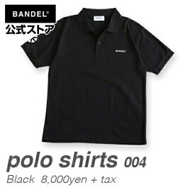 ポロシャツ 半袖 Black(黒・ブラック) BANDEL バックプリント NEWロゴ ポロシャツ BANDEL バンデル メンズ レディース スポーツ