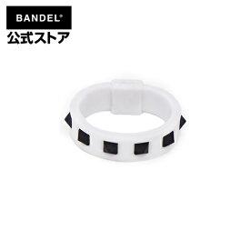 リング 指輪 studs ring ホワイト×ブラック(WhitexBlack 白×黒 スタッズ) BANDEL バンデル  メンズ レディース スポーツ シリコンゴム