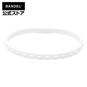 Studs Line Anklet White×White アンクレット ホワイト×ホワイト(WhitexWhite 白×白 スタッズ) BANDEL バンデル  メンズ レディース ペア スポーツ シリコンゴム