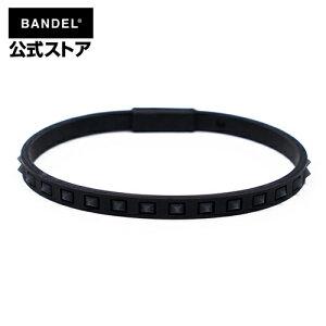 studs line anklet Black×Black アンクレット ブラック×ブラック(BlackxBlack 黒×黒 スタッズ) BANDEL バンデル  メンズ レディース ペア スポーツ シリコン