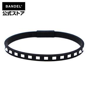 Studs Line Anklet Black×White アンクレット ブラック×ホワイト(BlackxWhite 黒×白 スタッズ) BANDEL バンデル  メンズ レディース ペア スポーツ シリコンゴム
