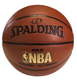 名入れ可能 バスケットボール SPALDING GOLD ゴールド 7号 合成皮革