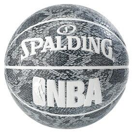 バスケットボール SPALDING スネークグレー 7号 合成皮革