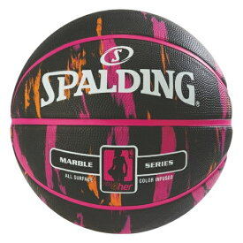 バスケットボール SPALDING ラバーボール フォーハー ブラッ×ピンク 6号 外用