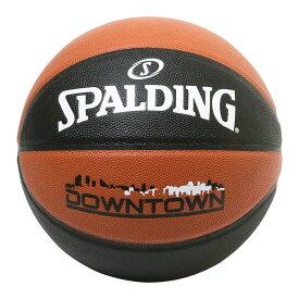 バスケットボール SPALDING DOWNTOWN ダウンタウン ブラウンブラック 5号 合成皮革