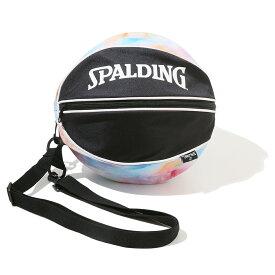 バスケットボールバッグ1球入れ SPADLING製 BALLBAG タイダイレインボー スポルディング