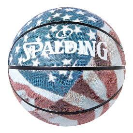 バスケットボール SPALDING ラバーボール スターズアンドストライプス 7号 外用