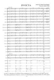 【取寄 約7日間】インヴィクタ序曲 作曲:ジェイムズ・スウェアリンジェン 編曲:戸田 顕 INVICTA Overture for Band【金管バンド-楽譜セット】