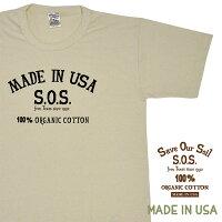 SOSプリントTシャツ[MADEINUSA]