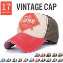 17color カラフル ヴィンテージ デザイン キャップ メンズ レディース 帽子 ダメージ キャップ CAP アメリカン スポー…