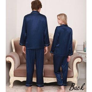 男女サテンパジャマ長袖36