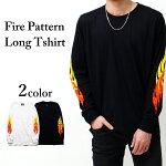 ファイヤーパターンロングTシャツ01