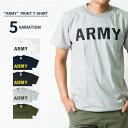 5color ARMY Tシャツ アーミー 半袖 クルーネック メンズ/レディース/無地/Tシャツ/Army/ロゴ/カレッジロゴ/ミリタリ…