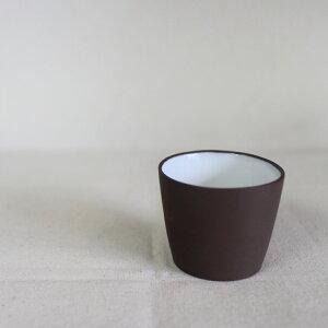 高級中杯 王金川作 こげ茶