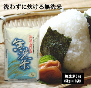 【無洗米】洗わずに炊ける無洗米5Kg×1