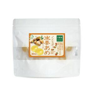 【送料無料】ノンシュガー 飴 生姜 しょうが 30粒 キャンディー あめ 砂糖なし