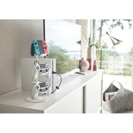 ゲームコントローラー収納ラック スマート ホワイト 山崎実業 YAMAZAKI シンプル おしゃれ かわいい 便利 リビング インテリア 収納 整理 整頓 Switch PS4 スイッチ プレイステーション ヘッドホン ハンガー フック スタンド シェルフ