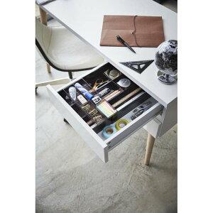 伸縮&スライド デスクトレー タワー ブラック 03442 | 伸縮 スライド 机 トレイ テーブル 便利 シンプル おしゃれ 山崎実業 YAMAZAKI