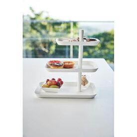 【送料無料】キッチン3段トレー タワー ホワイト 04280 | 山崎実業 YAMAZAKI おしゃれ スタイリッシュ かわいい 便利 シンプル