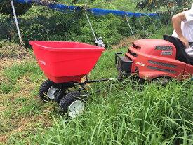 アースウェイ EF130H-T アウトレット 牽引式 ハイアウトプット 散布機 大容量 空気タイヤ 果樹園 肥料 ペレット 散布機 Earthway 組立及び工具必要。