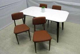 【アウトレット】【単品販売】 ダイニングテーブル 幅160 dtb-ak-m チークウッド ホワイト 白 インテリア 収納 テーブル ダイニングテーブル 中古 家具