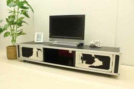 【アウトレット】 テレビボード ロータイプ tvb-ak-h40hr ブラック ハラコ 黒 白 テレビ台 インテリア 中古 家具