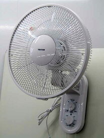 【リユース新品】【保証付き】【扇風機】テクノス ACモーター 壁掛け扇風機 引き紐式 KI-W289 ホワイト 2018年製