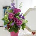 【70代女性】祖母へ喜寿のお祝いギフト!パープルのお花アレンジメントのおすすめは?