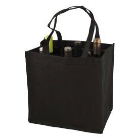 TRUE ボトルトートバッグ ブラック 6本用 不織布 エコバッグ