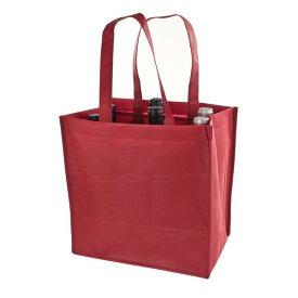 TRUE ボトルトートバッグ ワインレッド 6本用 不織布 エコバッグ