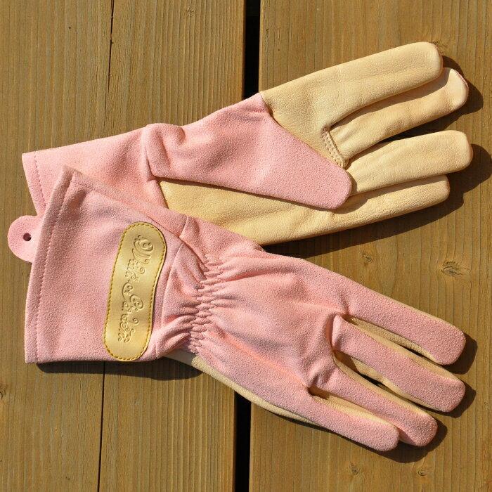 ウィズガーデンローザ プレミアムシリーズ 【ピンク】 (革手袋、皮手袋、ガーデングローブ、レディース、園芸手袋) ※土と同梱可※