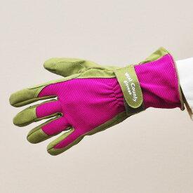 ウエストカウンティークラシック【ベリー】(革手袋、皮手袋、ガーデングローブ、レディース メンズ、園芸手袋) ※土セットと同梱可※