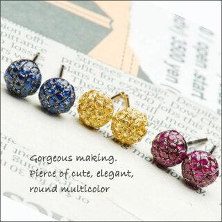 美しいパヴェに見惚れる宝石が輝くワンランク上のピアス★特製キャッチ付!(WGK18・K18)