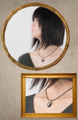 【送料無料】ハートのダイヤモンド&オニキス☆サファイアガラスの中で動くハートダイヤモンドネックレス(WGK18)