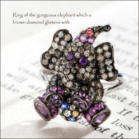 ダイヤモンド 象 リング 指輪 アメジスト サファイア ゾウ リング ダイヤモンド ジュエリー アクセサリー レディースジュエリー 品質保証 プレゼント 贈り物 ファッション セレクトジュエリー 30代 40代 50代 おすすめ 送料無料