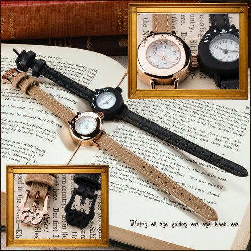 【新作】【送料無料】ネコ時計 黒猫 ウォッチ 猫 キャット 腕時計 にゃんこ ジュエリー アクセサリー レディースジュエリー 品質保証 プレゼント 贈り物 ファッション セレクトジュエリー 30代 40代 50代