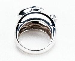 WGK18うさぎウサギリングダイヤモンドPonteVecchioポンテヴェキオ指輪ハイジュエリーアクセサリーレディースジュエリー品質保証プレゼント贈り物ファッションセレクトジュエリー【送料無料】