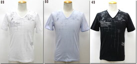 NICOLE CLUB FOR MEN 【ニコルクラブフォーメン】 マッププリントVネックTシャツ 6264-9003 【10P09Jul16】