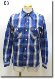HOUSTON 【ヒューストン】 フランネル チェック ビエラ チェックワークシャツ 40223A