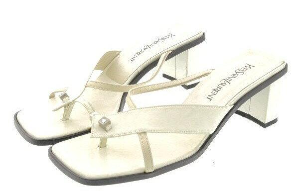 【中古】 Yves Saint-Laurent イヴサンローラン レディース サンダル 36.5 ブランド 【良品】 【,v542,】 箱・付属品はお付けできません
