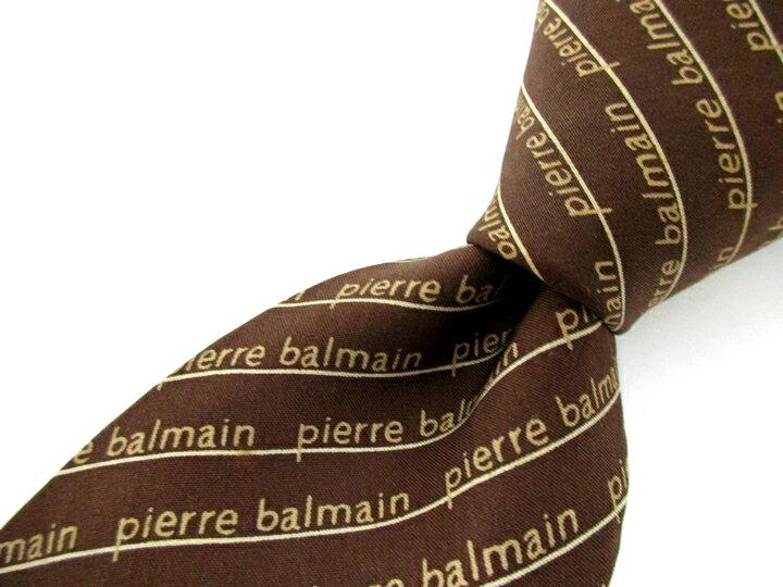 ブランド 古着 ネクタイ Pierre Balmain ピエールバルマン ストライプ 良品 メンズ プレゼント 送料込 ※メール便送料無料 【,r40199,】 【中古】 【あす楽】