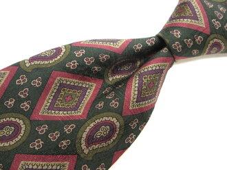 正好名牌旧衣服领带1000日元的EMILIO ROSSI埃米利奥罗西佩斯利花纹领带品质优良的货物人礼物 ※邮费另加道路关键只货到付款冲绳、孤岛不可能
