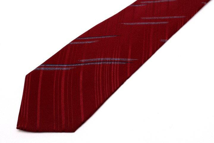 ピエールカルダン pierre cardin ストライプ柄 レッド 赤 シルク 日本製 ブランド ネクタイ 送料無料 【中古】【良品】